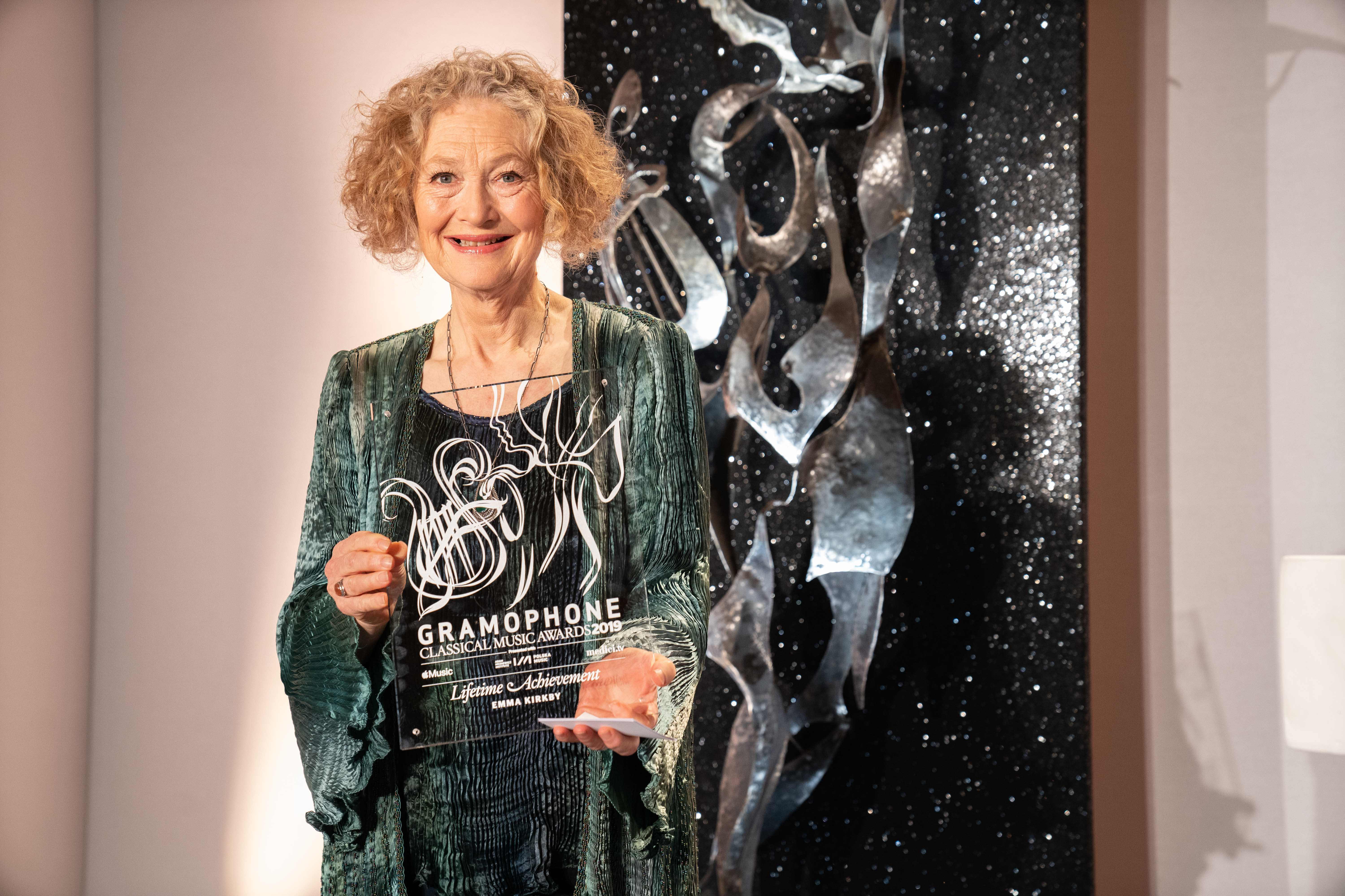 Dame Emma Kirkby collects her Lifetime Achievement Award