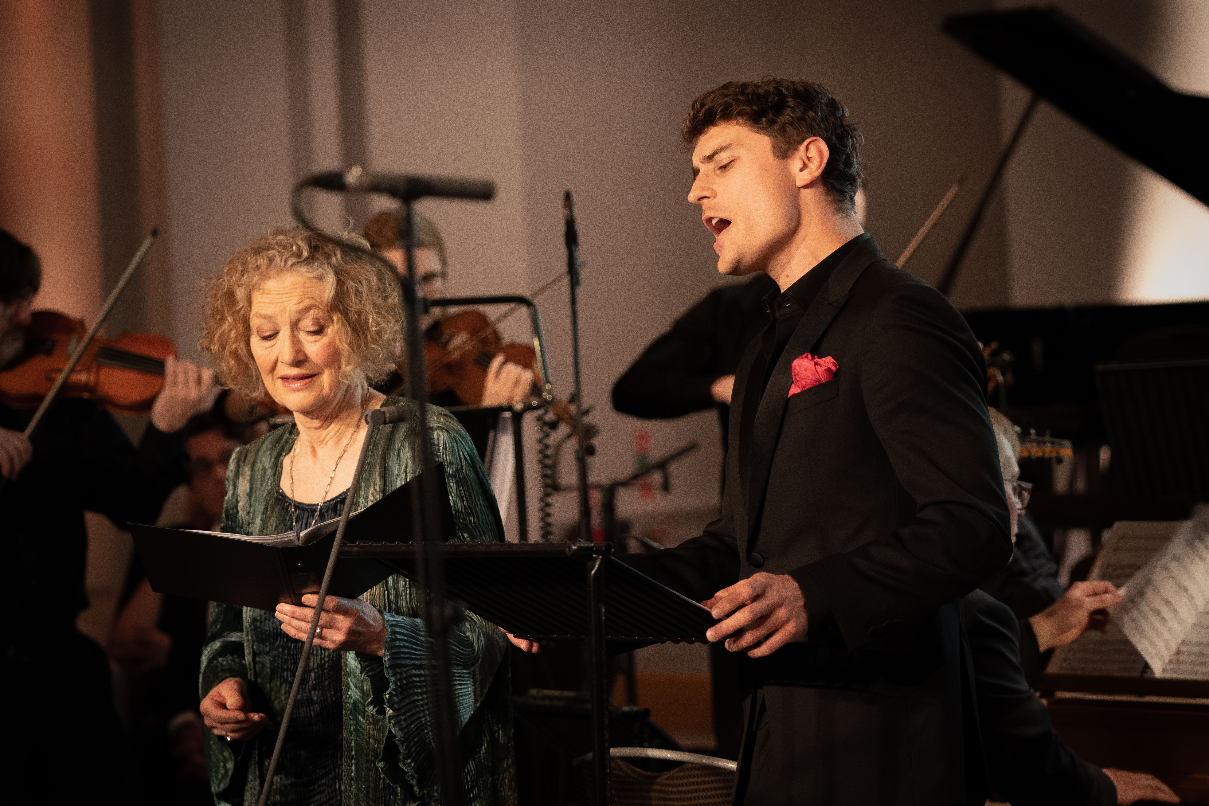 Young Artist Jakub Józef Orlinski and Lifetime Achievement Award-winner Dame Emma Kirkby perform together to close the evening